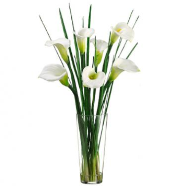 "36"" Calla Lily in Glass Vase main image"