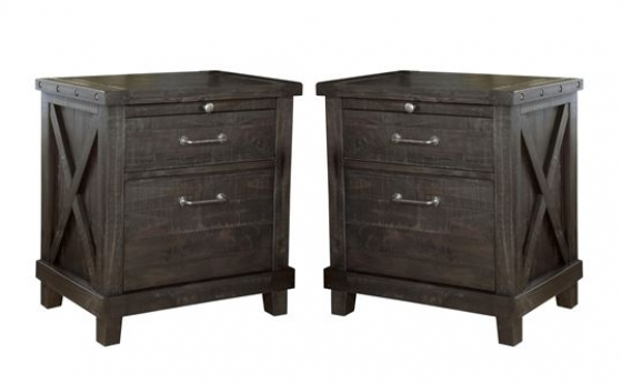 Set of 2 2 Black Stallion Night Stands Member Cost main image