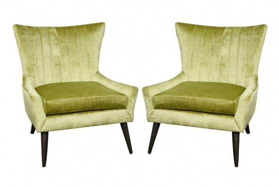 2 Olive Green Accent Chairs Member Cost: $399.00 e main image