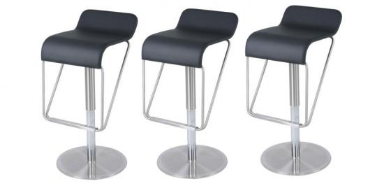 Premium Black Gaslift Bar Stool main image