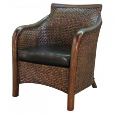 Brown Rattan Living Chair - goes with 13336 main image