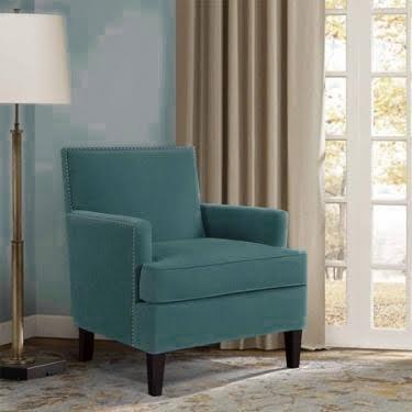 Ocean Teal Nailhead Accent Chair main image