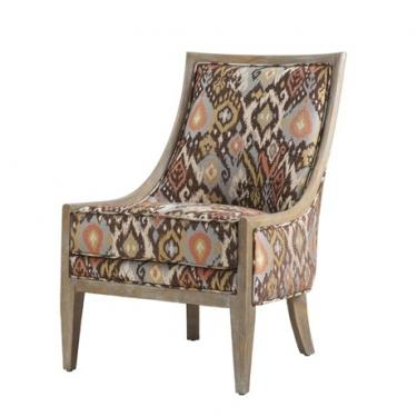 Brown Ikat Accent Chair  main image