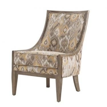 Taupe Ikat Accent Chair  main image