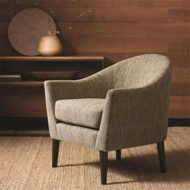 Brown Striped Accent Chair  main image