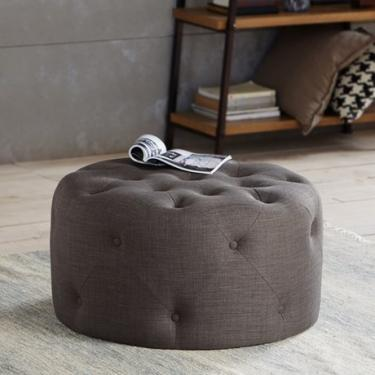 Round Tufted Ottoman  main image