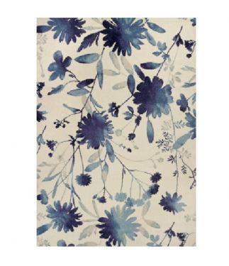 "Blue Watercolors Rug 5'3""x7'7"" main image"