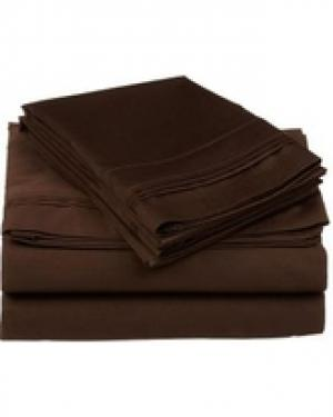 Chocolate 1800 Thread Ct Queen Sheet Set (4) main image