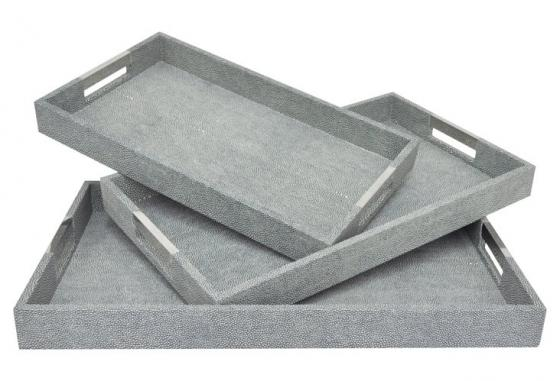 Gray Scale Tray Set of 3 main image