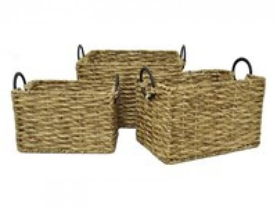 Water Hyacinth Storage Baskets (Set of 3) main image
