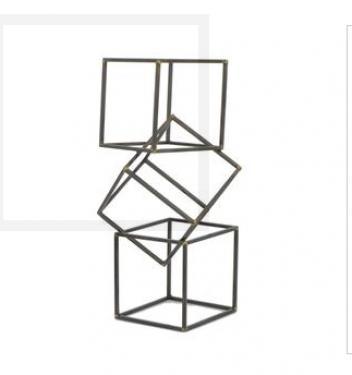 Tall Table Top Metal Cube Interlock main image