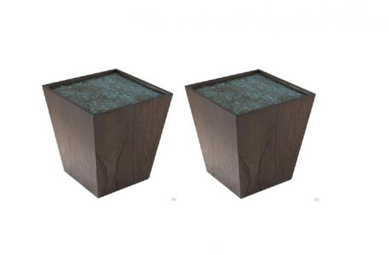 Bach Mosaic Wooden Cubes (Set of 2) Goes with 1563 main image