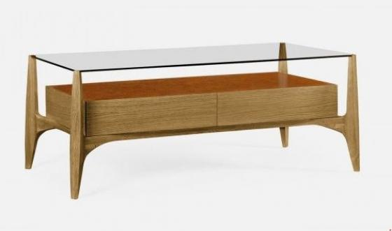 Architects Cocktail Table with Drawers and Glass T main image