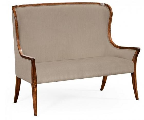 High Curved Back Settee, Upholstered in MAZO main image