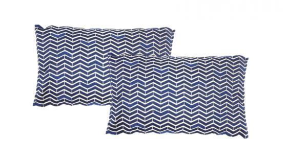 Navy Blue Chevron Design Pillow main image