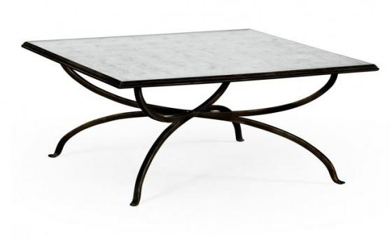Églomisé and Bronze Square Coffee Table main image