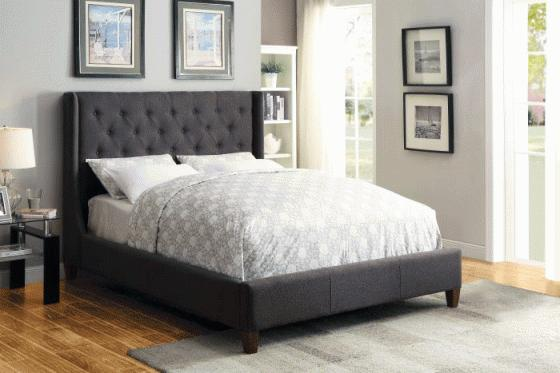 Knoll Grey Queen Bed main image