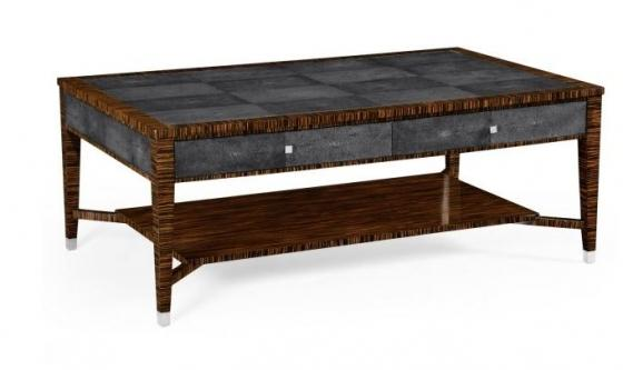 Faux Macassar Ebony & Anthracite Shagreen Coffee T main image