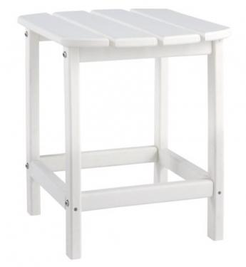 White Sundown Treasure End Table main image