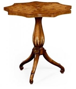 Finely Inlaid Lamp Table with Nine Sided Top main image