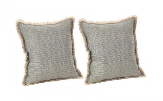 Fringed Pinstriped Pillows main image