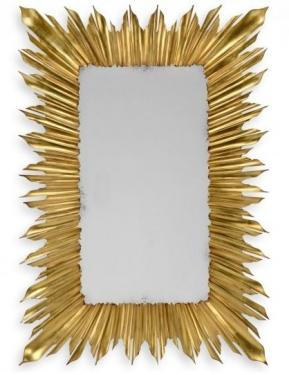 Gilded Rectangular Sunburst Mirror main image