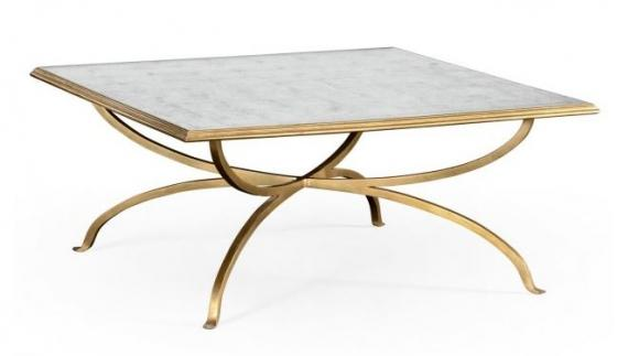 Églomisé and Gilded Square Coffee Table main image