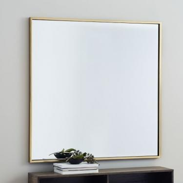 Metal Framed Oversized Square Mirror main image