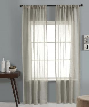 Gray Linen Sheer Lurex Panel main image