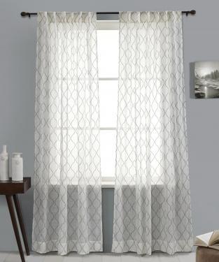 Sheer Linen Panel w/ Embellishment main image
