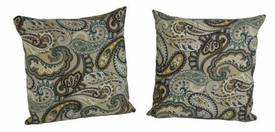 Brown Paisley Pattern Pillow Set main image