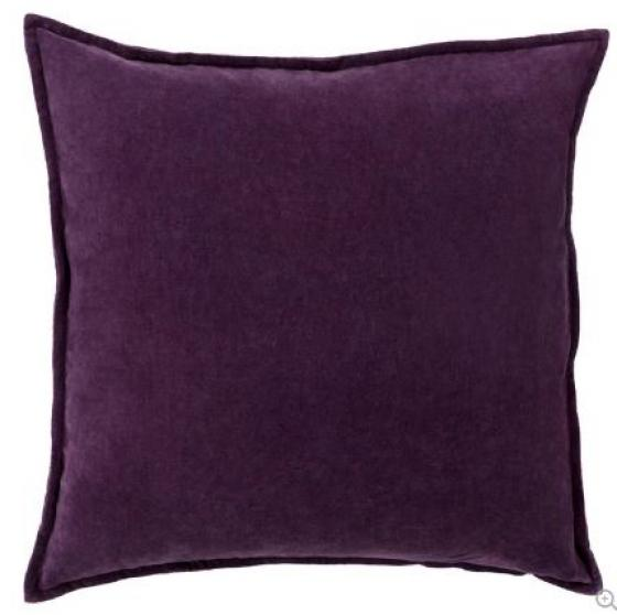 Dark Purple Cotton Velvet Throw Pillow main image