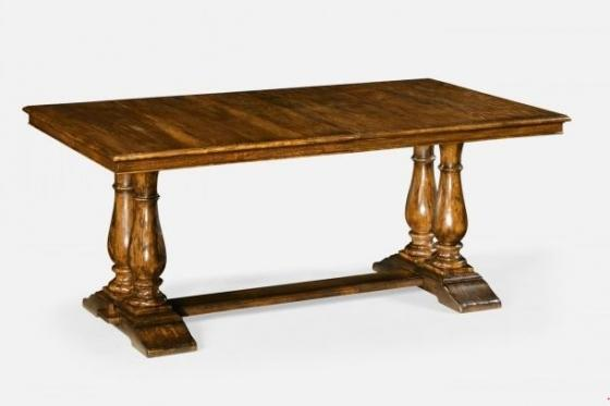 Country Walnut Rectangular Extending Dining Table main image