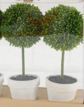 "2Pc 9.5"" Topiary Plants main image"