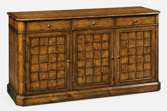 "64"" Country Walnut Three Door Sideboard main image"