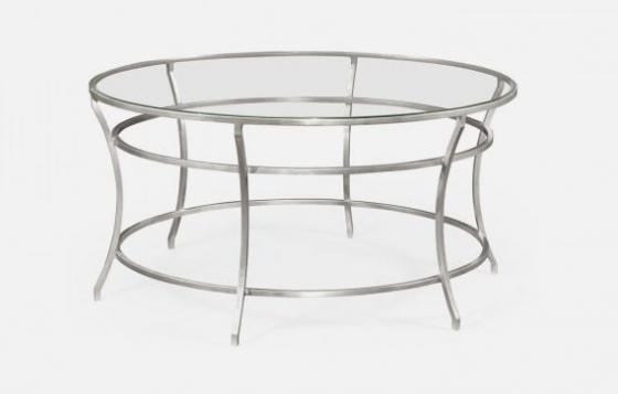 Silver Round Iron Coffee Table main image