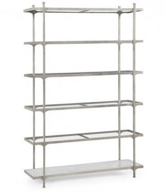 Silver Iron Six-Tier Bookcase main image