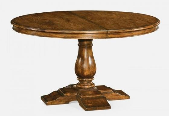 Circular Extending Dining Table in Country Walnut main image