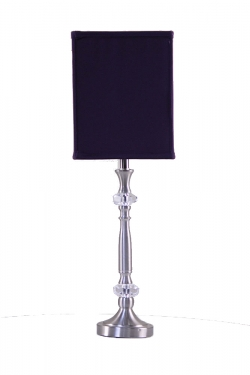 Silver Lamp with Purple Shade main image