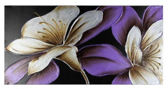 Purple/Grey Flower Art Wall main image