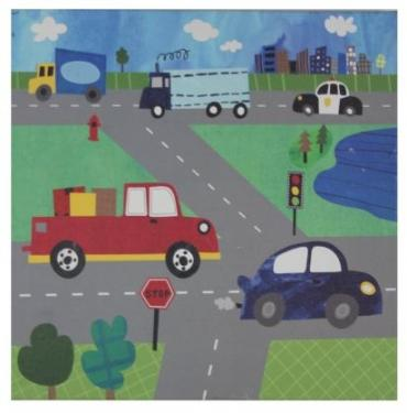 Kids Multi-Color Cars Canvas Art Wall main image