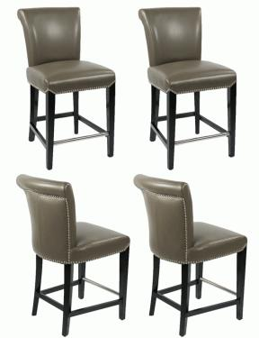Leather Taupe Counter Stools  main image