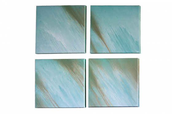 24x24 Blue Green Art (4) main image