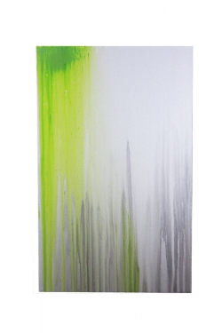 30x48 Lime Green/Gray Art main image