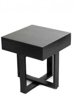Espresso Square Wood Side Table  main image