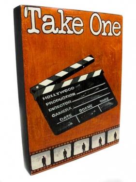 """Take One"" Painted Wood Wall Art main image"
