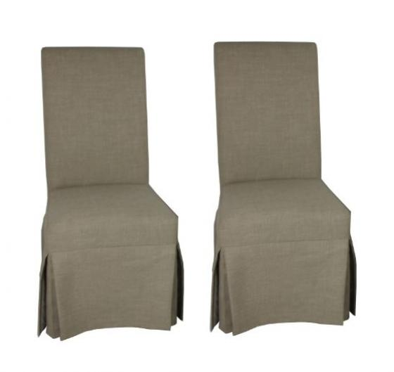 Beige Dining Slipper Chair Set main image