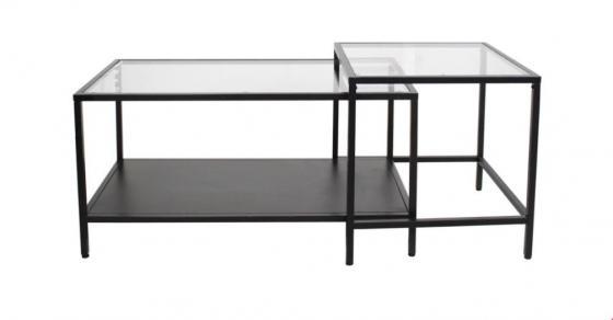 Black Metal & Glass Top Nesting Tables main image