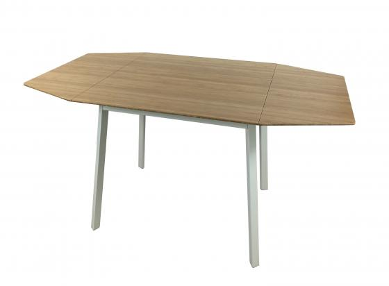 Small Bamboo and Steel Dining Table main image