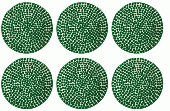 Small Round Green Pattern Rug Set 2'7 Round main image